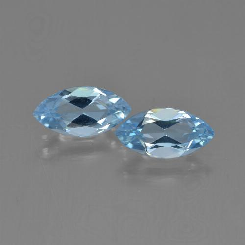 Sky Blue Topaz Gem - 1.3ct Marquise Facet (ID: 454053)