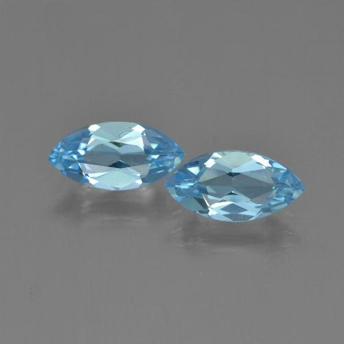 Light Blue Topaz Gem - 1.3ct Marquise Facet (ID: 454054)
