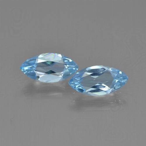 Sky Blue Topaz Gem - 1.2ct Marquise Facet (ID: 454055)