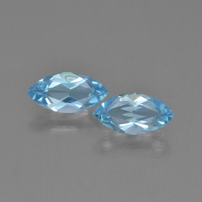 Sky Blue Topaz Gem - 1.2ct Marquise Facet (ID: 454057)