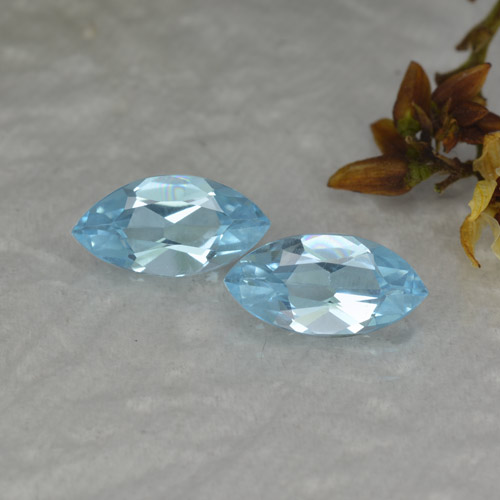 Swiss Blue Topaz Gem - 1.1ct Marquise Facet (ID: 454144)