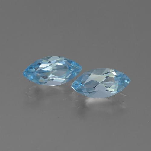 Sky Blue Topaz Gem - 1.4ct Marquise Facet (ID: 454145)