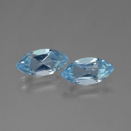 Sky Blue Topaz Gem - 1.3ct Marquise Facet (ID: 454147)