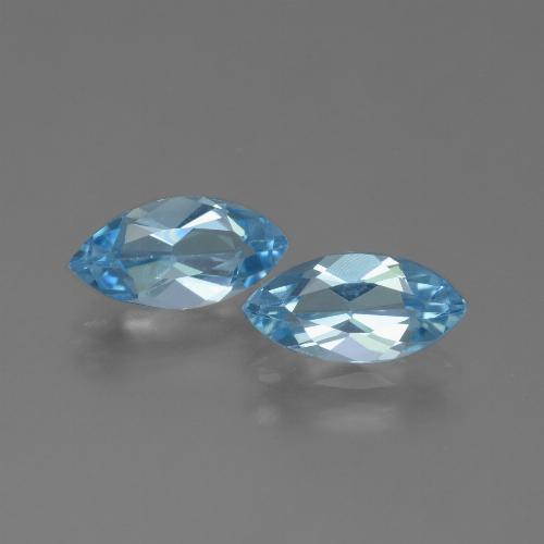 Sky Blue Topaz Gem - 1.3ct Marquise Facet (ID: 454148)