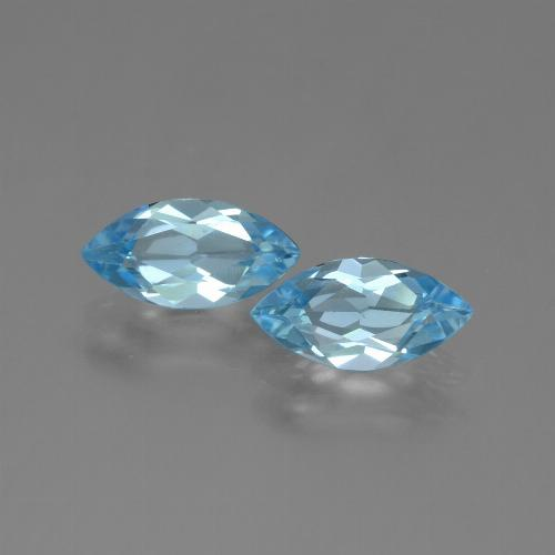 Sky Blue Topaz Gem - 1.2ct Marquise Facet (ID: 454150)