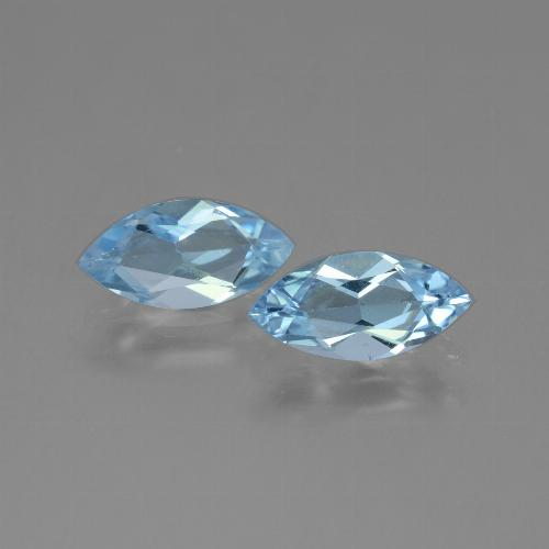 Sky Blue Topaz Gem - 1.1ct Marquise Facet (ID: 454151)