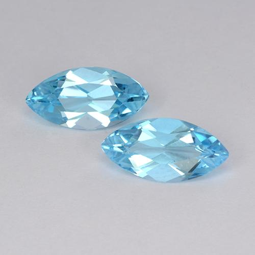 Swiss Blue Topaz Gem - 1.3ct Marquise Facet (ID: 454152)
