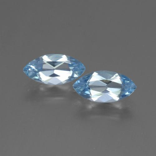 Baby Blue Topaz Gem - 1.3ct Marquise Facet (ID: 454153)