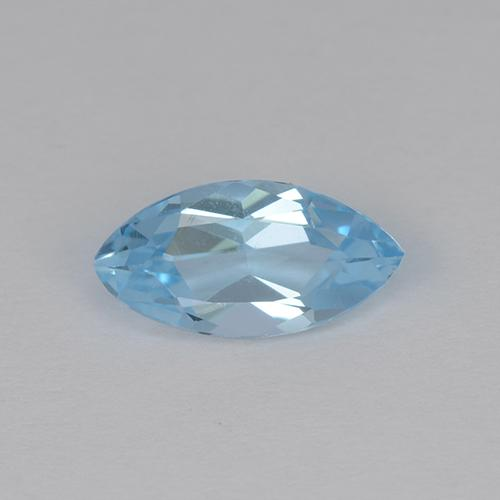 Light Cyan Blue Topaz Gem - 1.4ct Marquise Facet (ID: 454245)