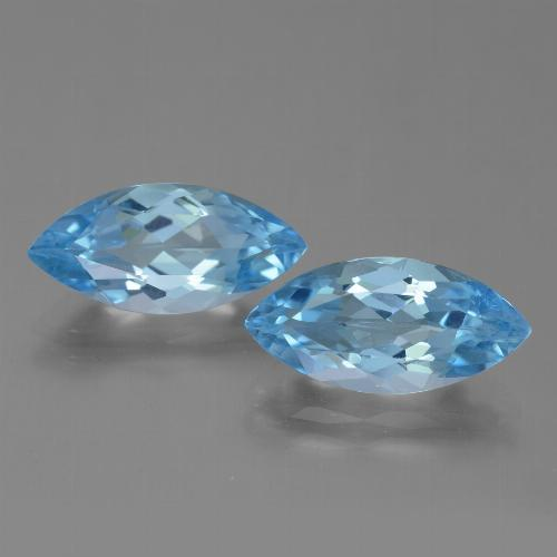 Sky Blue Topaz Gem - 3.7ct Marquise Facet (ID: 454607)