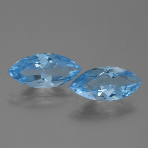 Swiss Blue Topaz Gem - 3.5ct Marquise Facet (ID: 454609)