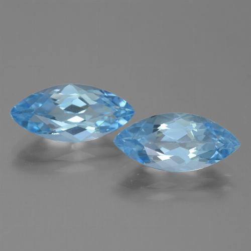 Light Blue Topaz Gem - 3.7ct Marquise Facet (ID: 454610)