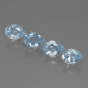 Sky Blue Topaz Gem - 0.9ct Pear Facet (ID: 454661)