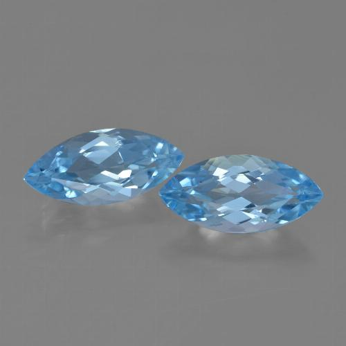 Sky Blue Topaz Gem - 3.7ct Marquise Facet (ID: 454683)