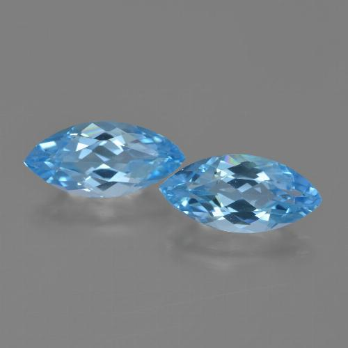 Sky Blue Topaz Gem - 3.5ct Marquise Facet (ID: 454684)