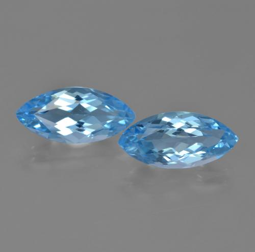 Sky Blue Topaz Gem - 3.9ct Marquise Facet (ID: 454685)