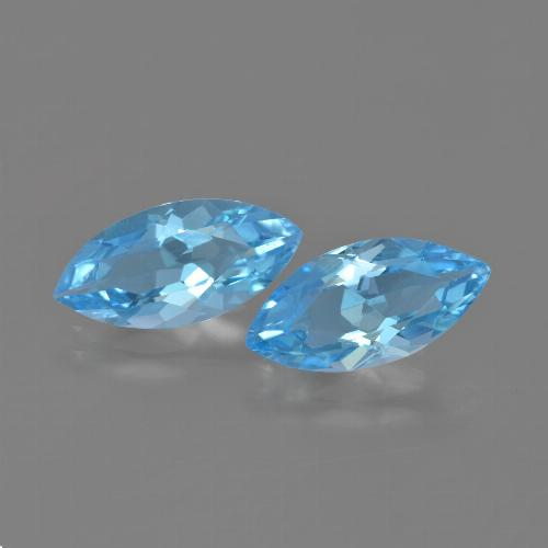Sky Blue Topaz Gem - 3.5ct Marquise Facet (ID: 454689)