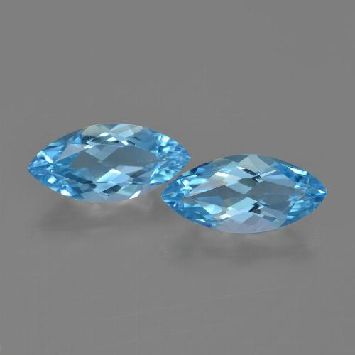 Sky Blue Topaz Gem - 3.3ct Marquise Facet (ID: 454690)