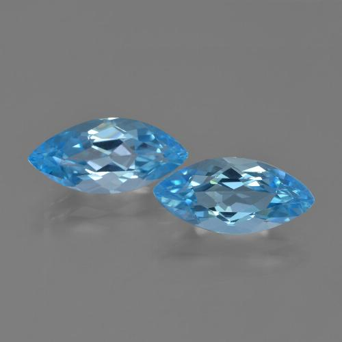 Sky Blue Topaz Gem - 3.8ct Marquise Facet (ID: 454692)