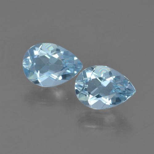 Sky Blue Topaz Gem - 0.8ct Pear Facet (ID: 454711)
