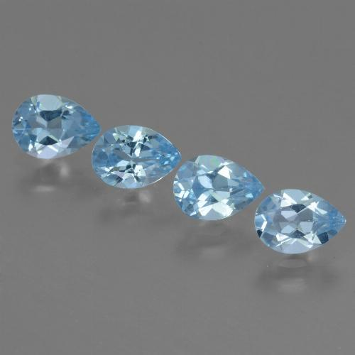 Sky Blue Topaz Gem - 0.8ct Pear Facet (ID: 454732)