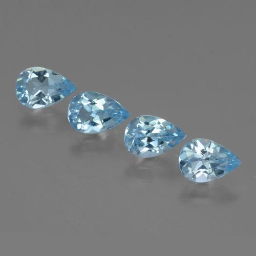 Sky Blue Topaz Gem - 0.8ct Pear Facet (ID: 454739)