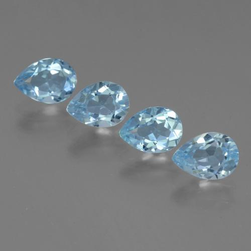 Sky Blue Topaz Gem - 0.9ct Pear Facet (ID: 454741)