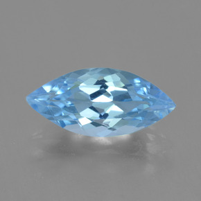 Sky Blue Topaz Gem - 3.3ct Marquise Facet (ID: 454771)