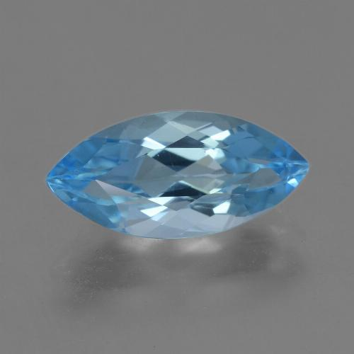 Sky Blue Topaz Gem - 4ct Marquise Facet (ID: 454775)