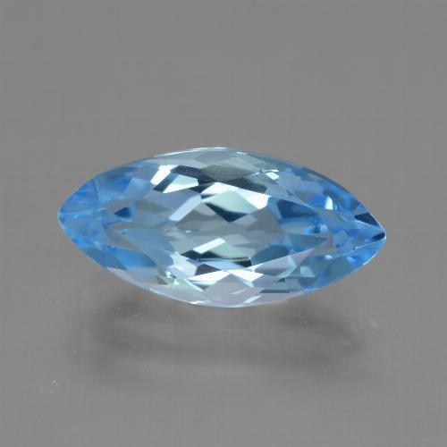 Sky Blue Topaz Gem - 4ct Marquise Facet (ID: 454778)