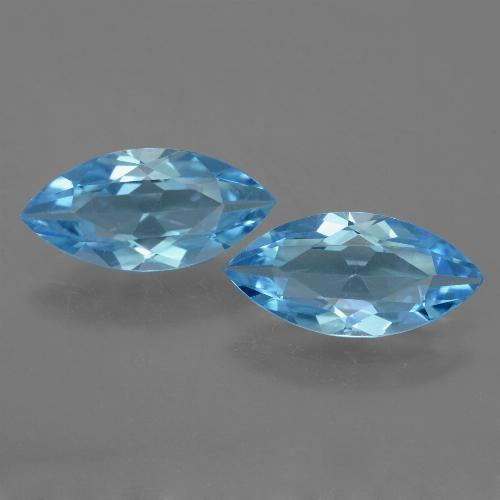 Sky Blue Topaz Gem - 3.4ct Marquise Facet (ID: 454786)
