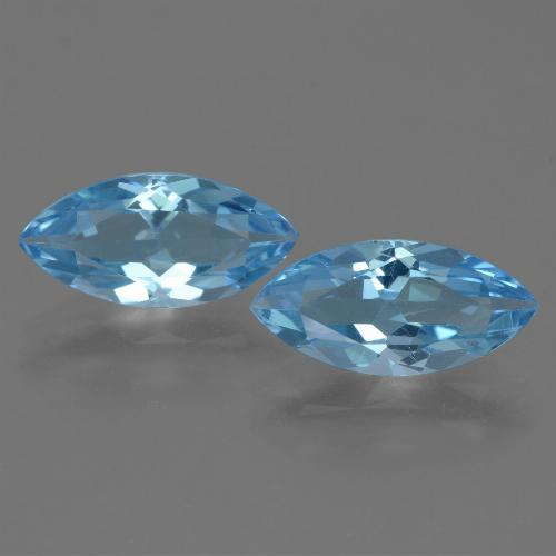 Sky Blue Topaz Gem - 3.7ct Marquise Facet (ID: 454787)