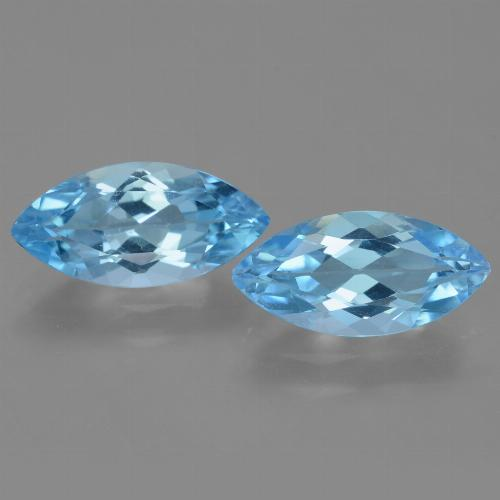 Sky Blue Topaz Gem - 3.6ct Marquise Facet (ID: 454789)