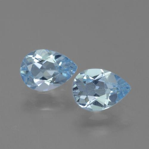 Baby Blue Topaz Gem - 0.8ct Pear Facet (ID: 454793)