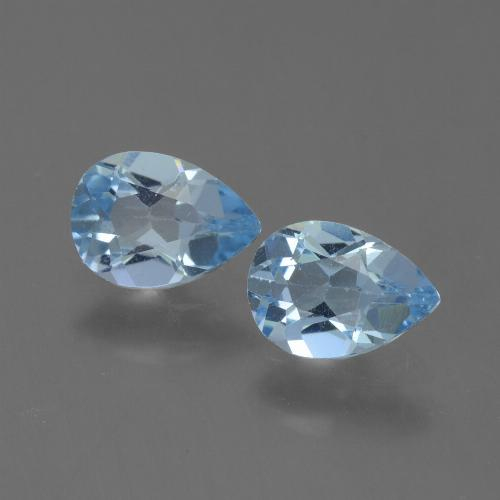 Sky Blue Topaz Gem - 0.8ct Pear Facet (ID: 454794)