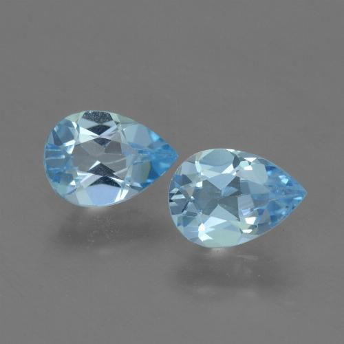 Swiss Blue Topaz Gem - 0.8ct Pear Facet (ID: 454801)