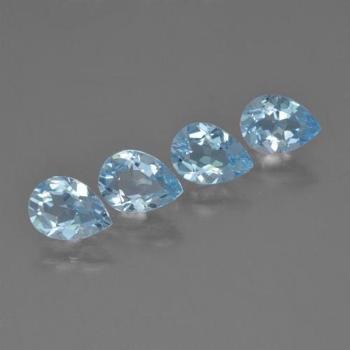Sky Blue Topaz Gem - 0.8ct Pear Facet (ID: 454828)
