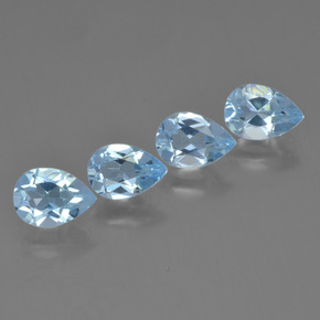 Sky Blue Topaz Gem - 0.9ct Pear Facet (ID: 454830)