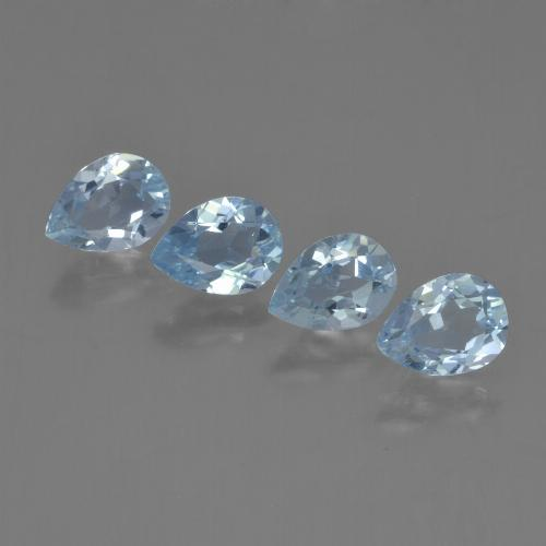 Sky Blue Topaz Gem - 0.9ct Pear Facet (ID: 454833)