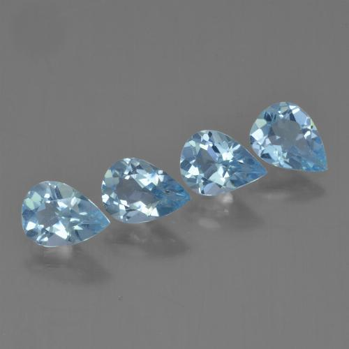 Sky Blue Topaz Gem - 0.7ct Pear Facet (ID: 454834)