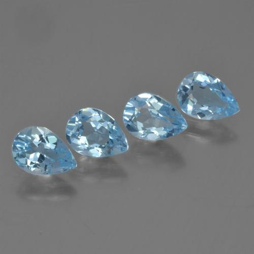 Sky Blue Topaz Gem - 0.8ct Pear Facet (ID: 454836)