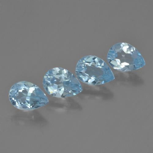 Sky Blue Topaz Gem - 0.8ct Pear Facet (ID: 454838)