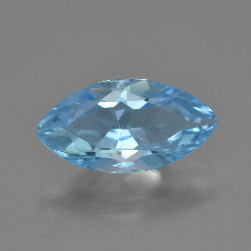 Light Blue Topaz Gem - 3.5ct Marquise Facet (ID: 454840)