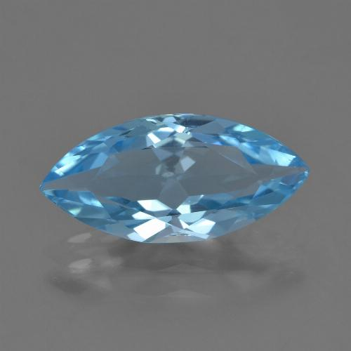 Sky Blue Topaz Gem - 3.5ct Marquise Facet (ID: 454843)