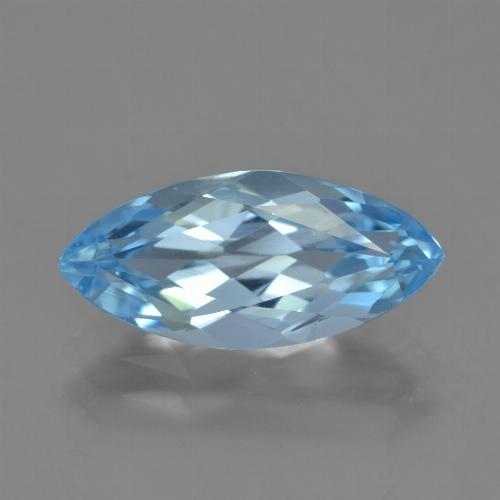 Sky Blue Topaz Gem - 3.7ct Marquise Facet (ID: 454845)