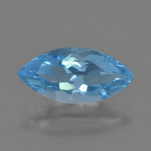 Sky Blue Topaz Gem - 3.6ct Marquise Facet (ID: 454846)