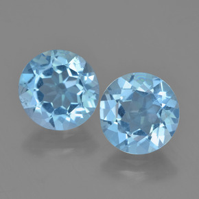 Sky Blue Topaz Gem - 2.2ct Round Facet (ID: 454863)