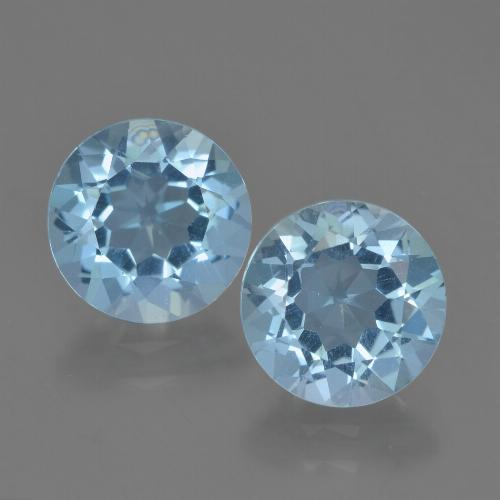 Sky Blue Topaz Gem - 2.4ct Round Facet (ID: 454866)