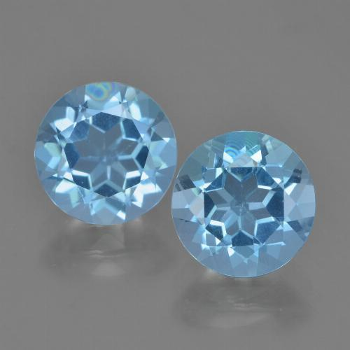 Sky Blue Topaz Gem - 2.4ct Round Facet (ID: 454867)