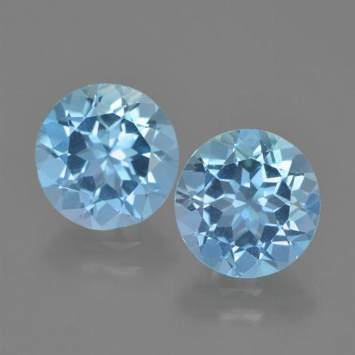 Maya Blue Topaz Gem - 2.4ct Round Facet (ID: 454869)